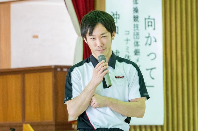 体操北京オリンピックメダリスト<br>沖口 誠 講演『夢に向かって』