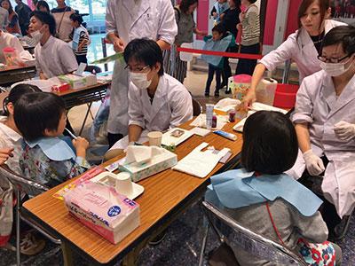 長崎大学歯学部祭 「ブラッシング教室」