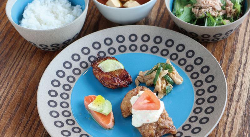 地元産の食材たっぷりの「日替りMORIYA定食」890円