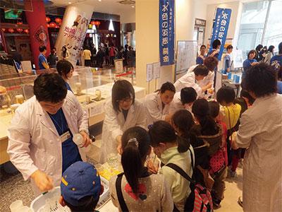 長崎大学水産学部「ミニ鴻洋祭」体験実験