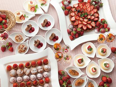 イチゴの季節に贈る スイーツブッフェが開催