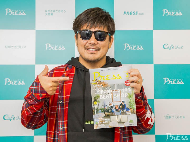 湘南乃風のRED RICEさん来崎!<br>インタビュー記事は5月号で掲載!!