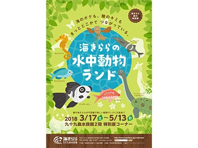 【海きらら】春の特別展 <br>「海きららの水中動物ランド」