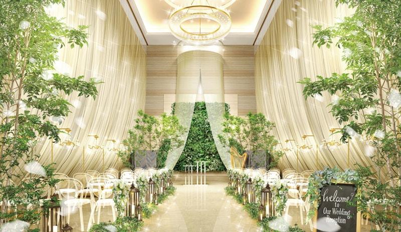 リニューアルしたロビーチャペル! <br>Forest Veil Wedding