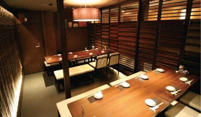個室テーブル席を充実させてオトナの雰囲気を、よりゆったり愉しむ