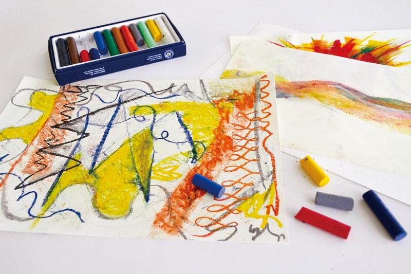 〈セトレグラバーズハウス長崎〉<br>オイルパステルで抽象画をかいてみよう