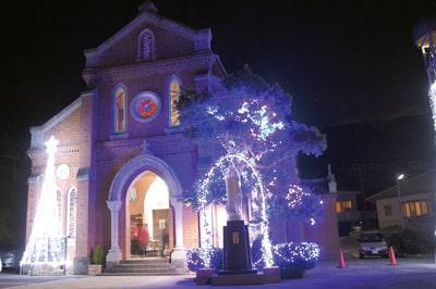 12月初旬~1月初旬「日本夜景遺産認定」上五島の教会イルミネーション