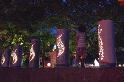 壱岐島の夜を彩る幻想的な灯り(壱岐)
