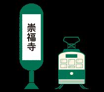 崇福寺電停