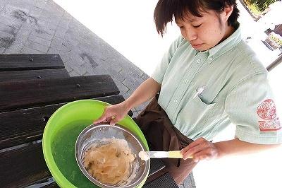 どんぐり村 三瀬ルベール牧場のアイスクリーム作り体験